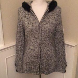 Nils Sportswear Gray Heathered Knit Sweater medium